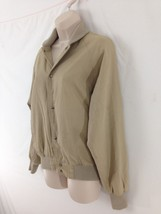 J Crew Womens XS Khaki Tan Lined Hiking Camp Metal Snap Cotton Jacket - $22.77