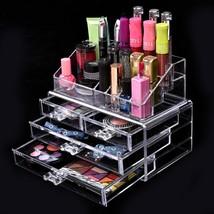 Acrylic Jewelry & Cosmetic / Makeup Storage Display Boxes Set. - $22.99