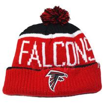 47 Brand NFL Atlanta Falcons Big Stripe Cuffed Knit Pom Beanie Hat Cap - $21.77
