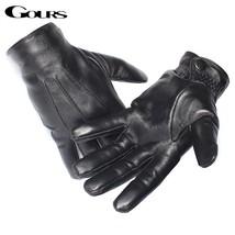 Genuine Leather Men Gloves / Real Sheepskin Leather Gloves - $32.99