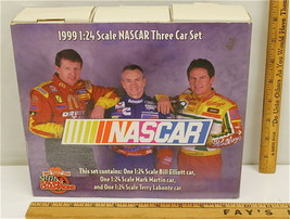 Racing Champions 1999 NASCAR Set 1:24 Bill Elliot Mark Martin Terry Labo... - $26.17
