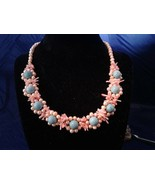 "17.5"" Pearl Coral Turquoise Handmade Necklace Z307 - $100.00"
