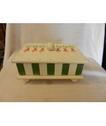 Wooden White & Green Trinket Storage Box from Danielson Designs With Rad... - $37.13