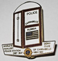 Lions Club Lapel Pin World's Smallest Police Station Carrabelle Florida ... - $5.93