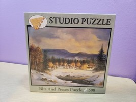 Brand New Bits And Pieces 500 Pc Studio Puzzle Winter Camp  - $16.54