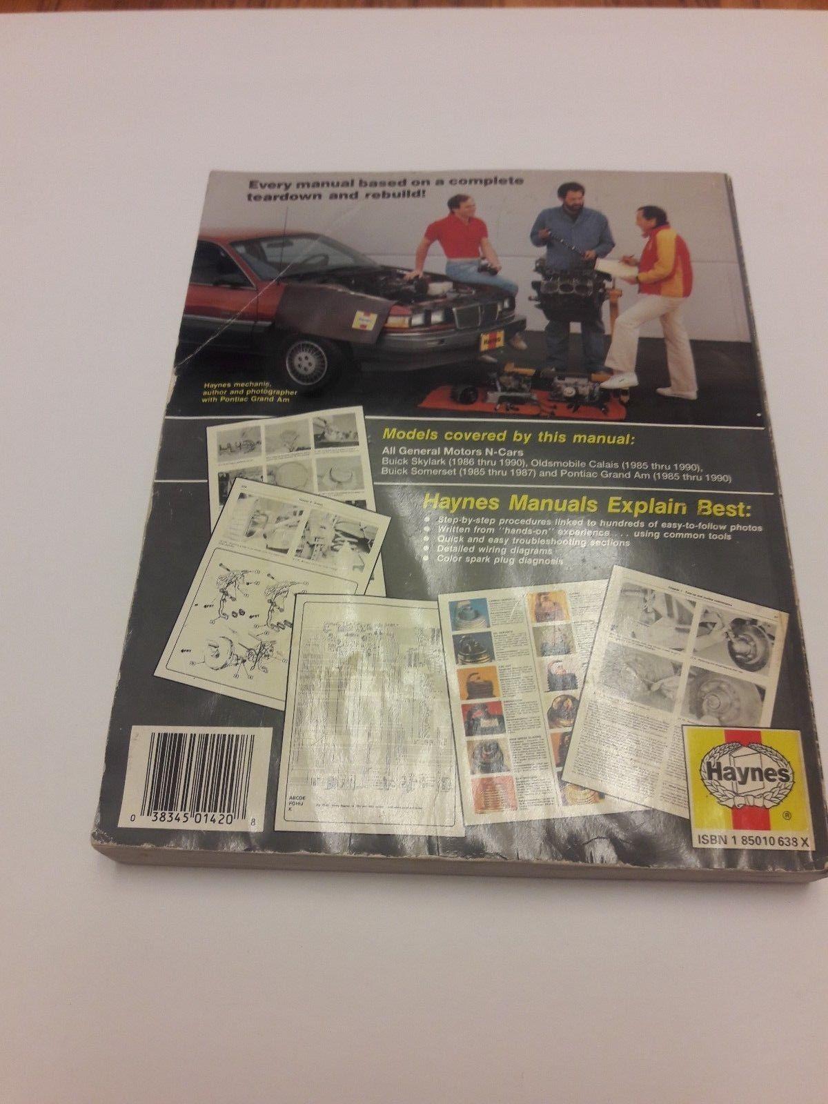 Haynes repair manual GM N-Cars Buick Skylark and 50 similar ... on