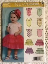 Simplicity New Look A6135 Babies Onsie & Skirt Sz NB-Lg - $18.55