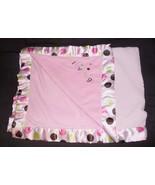 Carters Just One Year I Love Hugs Baby Blanket Pink Polka Dot Satin Sherpa - $44.43