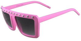 NEW Quay Eyeware Australia 1414 Matte Pink Silver Studs 100% UV Sunglasses image 2