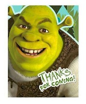 Shrek 4 Ever After Thank You Cards 8 Per Package Birthday Party Supplies NEW - $3.91