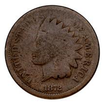 1872 Indios Rótula Céntimos 1C Centavo (Buenos,G Condición) Llenos Rines - $102.54