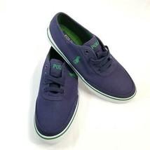 Polo Ralph Lauren Sneaker Earle Navy Low Canvas Sneaker Shoes Sz 8.5 NWB - $35.99