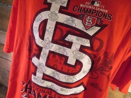 St Louis CARDINALS National League Champions 2011 T-Shirt Size XL - $9.89