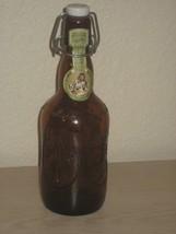 Grolsch Lager Beer Bottle - Porcelain Top Beer Bottle - Holland -16 Oz. - $8.56