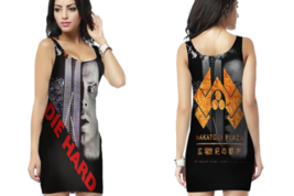 Die Hard Movie Nakatomi Plaza Distressed Womens Bodycon Sleeveless Short Mini D - $17.99+