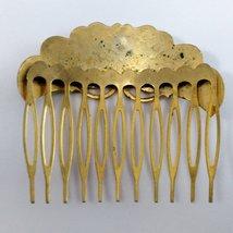 Cloisonné Hair Comb Vintage image 4