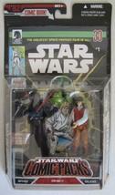 Star Wars Comic Packs DARTH VADER & REBEL OFFICER Figures & Comic Book - $24.74