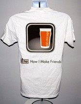 New Mens Old Chicago Craft Beer Tour T Shirt 2012 Tap How I Make Friends Small - $21.73