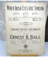 Vintage Sheet Music Lyrics When Irish Eyes Are Smiling E. R. Ball 1912 5... - $15.00