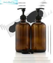 Cornucopia Brands 16-Ounce Clear Glass 16-OZ, 2-Pack / Black Pumps, - $17.40