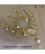 Kundan High quality Handmade Wedding Bridal Necklace Set Vc336 - $104.52