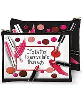 Mariasch Studios Zippered Cotton Cosmetic Bag - It's Better to Arrive La... - $16.95
