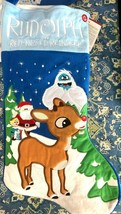 Rudolph The Red Nosed Reindeer Musical Stocking, Rudolph, Santa, Bumble,... - $18.56