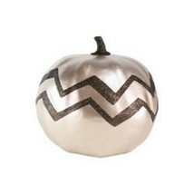 Large Harvest Pumpkin Chevron Metallic Gold (1) - $7.92