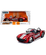 1965 Shelby Cobra 427 S/C Candy Red with White Stripes Snake Bite Bigtim... - $31.70