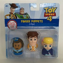 Disney Pixar Toy Story 4 Finger Puppets 3 Pack Giggle McDimples Woody Bo... - $14.84