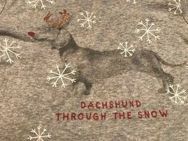 Gap Kids Longsleeve Shirt Sleep Shirt Size 10 Grey Dog Dachshund Snow - $8.65