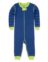 Hatley Boys' Coverall, Blue and Lime Stripes, 3-6 - $46.83