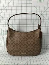 Coach F29209 Zip Shoulder Bag in Signature Coated Canvas Khaki Saddle 2 - $99.00