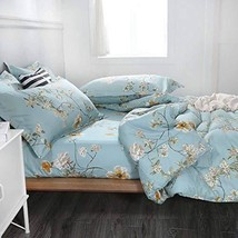 NANKO Comforter Set Queen Size,Teal 88 x 90 inch Reversible Down Alternative Com
