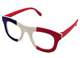 French Flag Eyeglasses Kids Party Decorative Glasses Frame