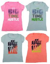 Women's Under Armour Tee Shirt Loose Heat Gear Slub Short Sleeve T-Shirt NEW