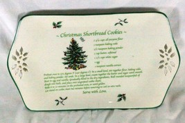 "Spode  Christmas Tree Christmas Shortbread Cookies Recipe Tray 12"" - $15.93"