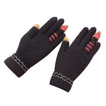 Cute Cartoon Gloves/Knitted Woolen Gloves/Fingers Gloves for Girls/Royal Blue