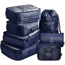 VAGREEZ Packing Cubes 7 Set Lightweight Travel Luggage Organizers with L... - $528,04 MXN