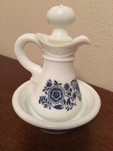 VINTAGE 1972 AVON DELFT BLUE MILK GLASS PITCHER & BASIN - $2.50