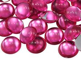 KraftGenius Allstarco 25mm Pink H112 Round Flat Back Acrylic Cabochons 1 Inch Pl - $5.24