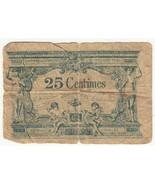 Vintage Francia 25 Centesimi Banconote Circolate - $26.41