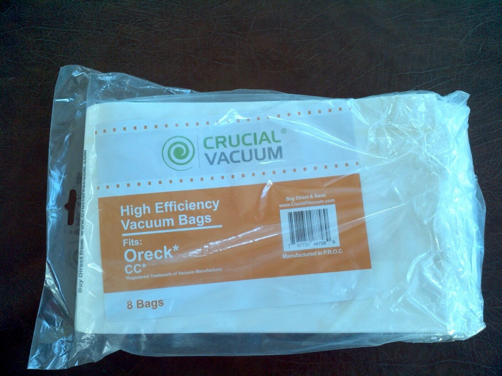 (11) Oreck type CC high efficiency vacuum cleaner bags