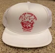 Vtg Snapback Lady Luck Defunct Casino Las Vegas Mesh Cap Hat Trucker Mad... - $7.69