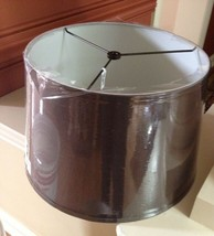 Pottery Barn Silk Tapered Drum Lampshade Espresso Brown 13D Small Round  - $35.64