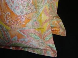 2 Boudoir Toss Pillow Cover Sham 12x16 New Ralph Lau JAMAICA PINK PAISLE... - $29.55