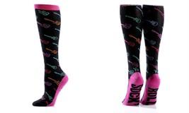 Yo Sox Premium Women's Knee Socks Sock'N Roll Fits Size 6 -10 - Cotton B... - $14.85