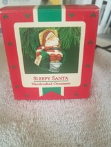 Sleepy Santa Handcrafted Ornament Rare vintage display model - $39.08