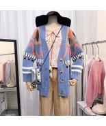 Christmas Sweater Cardigan Women Lazy Wind Autumn Winter Korean Style Ch... - $57.72