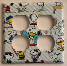 Peanuts Snoopy sport Toggle Rocker Light Switch Outlet wall Cover Plate decor image 5